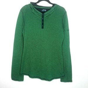 Columbia Hooded Top Green Blue Striped XL